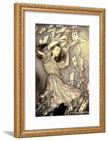 Illustration from 'Alice's Adventures in Wonderland' by Lewis Carroll-Arthur Rackham-Framed Giclee Print
