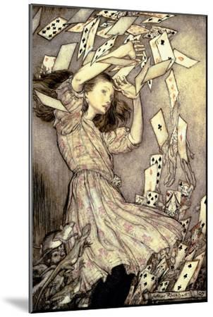 Illustration from 'Alice's Adventures in Wonderland' by Lewis Carroll-Arthur Rackham-Mounted Giclee Print