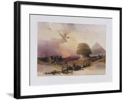 Approach of the Simoom. Desert of Gizeh, from 'Egypt and Nubia)-David Roberts-Framed Giclee Print