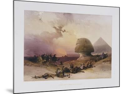 Approach of the Simoom. Desert of Gizeh, from 'Egypt and Nubia)-David Roberts-Mounted Giclee Print