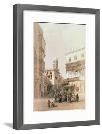 """Bazaar of the Coppersmiths, Cairo, from """"Egypt and Nubia"""", Vol.3-David Roberts-Framed Giclee Print"""
