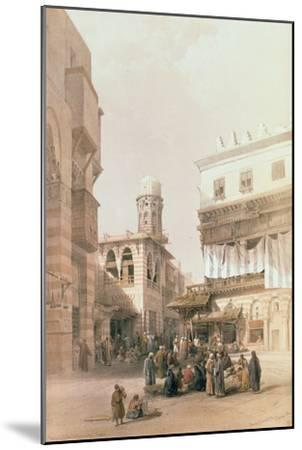 """Bazaar of the Coppersmiths, Cairo, from """"Egypt and Nubia"""", Vol.3-David Roberts-Mounted Giclee Print"""