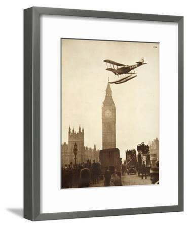 Alan Cobham Coming in to Land on the Thames at Westminster, London, 1926-English Photographer-Framed Giclee Print