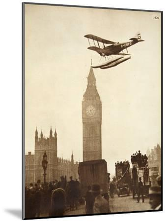 Alan Cobham Coming in to Land on the Thames at Westminster, London, 1926-English Photographer-Mounted Giclee Print