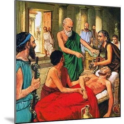Hippocrates Discouraging the Use of Primitive Medical Techniques-Clive Uptton-Mounted Giclee Print