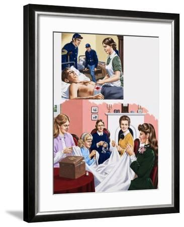 Louisa M. Alcott Becomea a Nurse During the American Civil War-John Keay-Framed Giclee Print