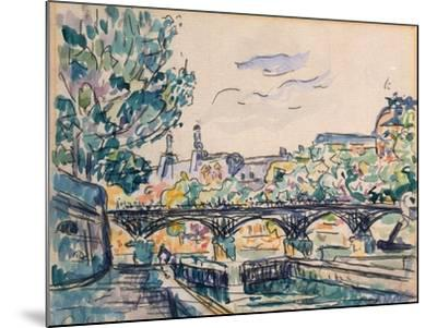 Bank of the Seine Near the Pont Des Arts, with a View of the Louvre-Paul Signac-Mounted Giclee Print