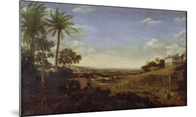 Brazilian Landscape with Sugar Mill, Armadillo and Snake, River Varzea- Post-Mounted Giclee Print
