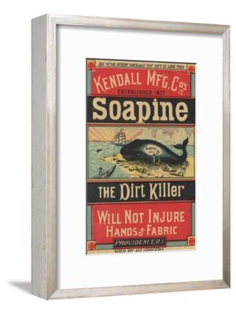 Poster Advertising Kendall Mfg. Co's 'soapine', C.1890-American School-Framed Giclee Print
