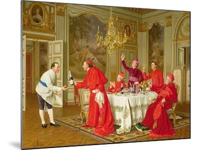 Louis Xiv's Apartments at Versailles, the Chef's Birthday-Andrea Landini-Mounted Giclee Print