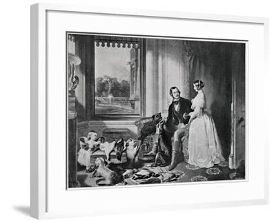 Windsor Castle in Modern Times, from the Painting of 1843-Edwin Henry Landseer-Framed Giclee Print