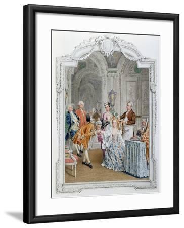 The Toilette, Illustration from 'La Vie Parisienne', C.1890-Maurice Leloir-Framed Giclee Print