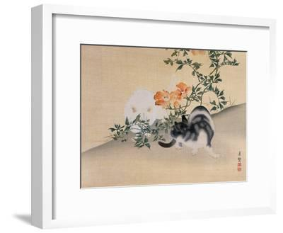 Two Cats, Illustration from 'The Kokka' Magazine, 1898-99-Japanese School-Framed Giclee Print