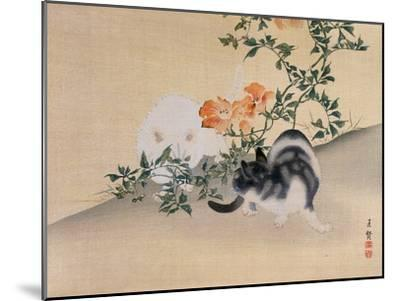 Two Cats, Illustration from 'The Kokka' Magazine, 1898-99-Japanese School-Mounted Giclee Print