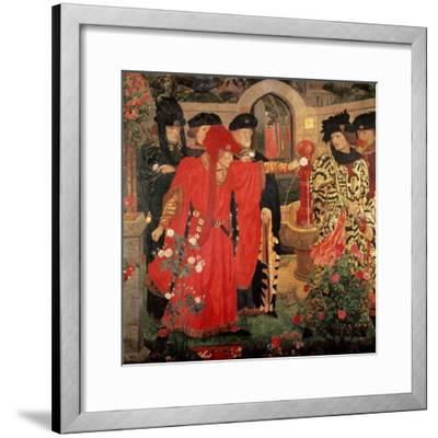 Choosing the Red and White Roses in the Temple Garden, 1910-Henry Payne-Framed Giclee Print