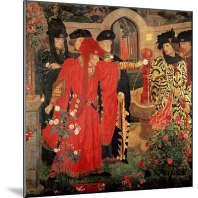 Choosing the Red and White Roses in the Temple Garden, 1910-Henry Payne-Mounted Giclee Print