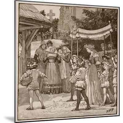 The Wedding of Jack of Newbury: the Bride's Procession-English School-Mounted Giclee Print