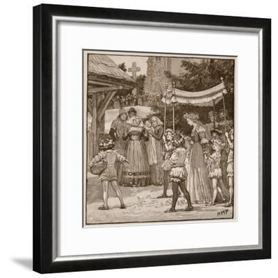 The Wedding of Jack of Newbury: the Bride's Procession-English School-Framed Giclee Print