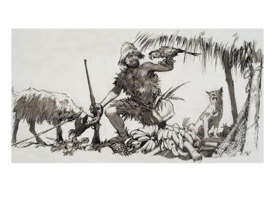 What Really Happened: the Real Robinson Crusoe, 1964-John Millar Watt-Framed Giclee Print