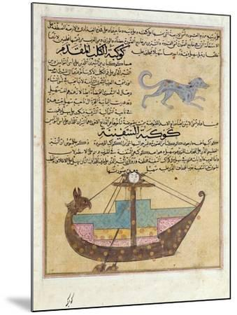 Ms E-7 Fol.26B the Constellations of the Dog and the Keel-Islamic School-Mounted Giclee Print