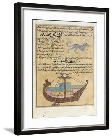 Ms E-7 Fol.26B the Constellations of the Dog and the Keel-Islamic School-Framed Giclee Print