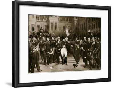 Napoleon's Farewell to His Generals at Fontainbleau, 1814-Horace Vernet-Framed Giclee Print