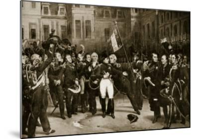 Napoleon's Farewell to His Generals at Fontainbleau, 1814-Horace Vernet-Mounted Giclee Print