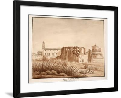 Hippodrome of the Family of Constantine, Via Nomentana, 1833-Agostino Tofanelli-Framed Giclee Print