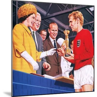 Bobby Moore Collecting the Football World Cup Trophy in 1966-John Keay-Mounted Giclee Print