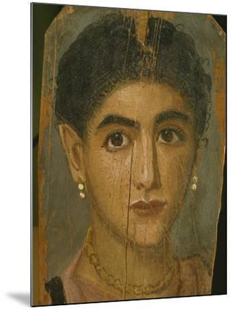 Female Mummy Portrait, from Thebes, 2nd Century-Roman Period Egyptian-Mounted Giclee Print