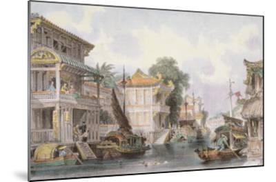Scene on the Horan Canal Near Canton, C.1850-Thomas Allom-Mounted Giclee Print