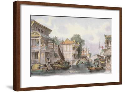 Scene on the Horan Canal Near Canton, C.1850-Thomas Allom-Framed Giclee Print