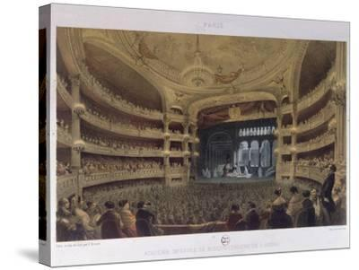 Academie Imperiale De Musique, Paris, C.1855-Louis Jules Arnout-Stretched Canvas Print