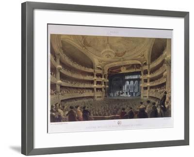Academie Imperiale De Musique, Paris, C.1855-Louis Jules Arnout-Framed Giclee Print