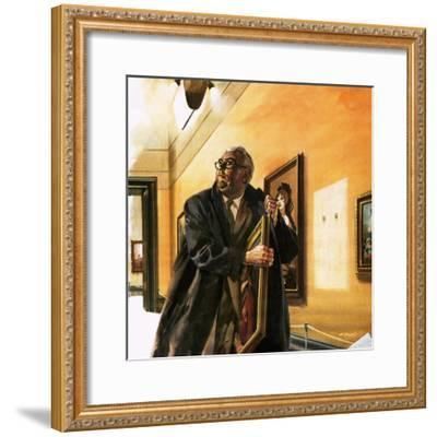 Taxi Driver Stealing Goya's Portrait of Wellington-Andrew Howat-Framed Giclee Print