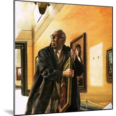 Taxi Driver Stealing Goya's Portrait of Wellington-Andrew Howat-Mounted Giclee Print