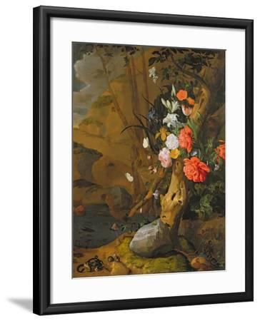 Peonies, Roses, Lilies, Poppies and Other Flowers-Rachel Ruysch-Framed Giclee Print