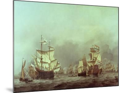 The Surrender of the Royal Prince, 3rd June, 1666-Willem Van De, The Younger Velde-Mounted Giclee Print