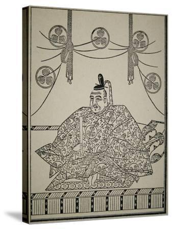 Portrait of Shogun Tokugawa Ieyasu in Court Dress-Japanese School-Stretched Canvas Print