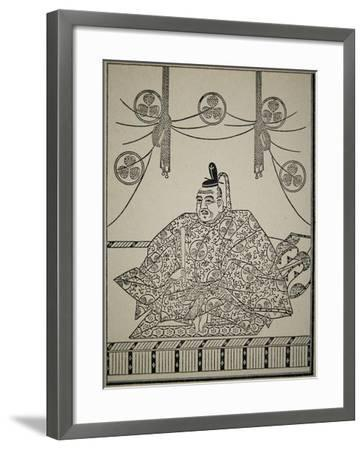Portrait of Shogun Tokugawa Ieyasu in Court Dress-Japanese School-Framed Giclee Print