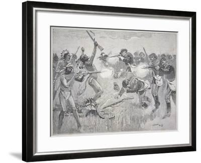 The Wounded Knee Massacre, 29th December 1890-American School-Framed Giclee Print