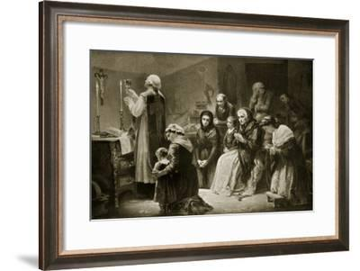 Celebration of Mass During the French Revolution-Charles Louis Lucien Muller-Framed Giclee Print