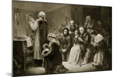 Celebration of Mass During the French Revolution-Charles Louis Lucien Muller-Mounted Giclee Print