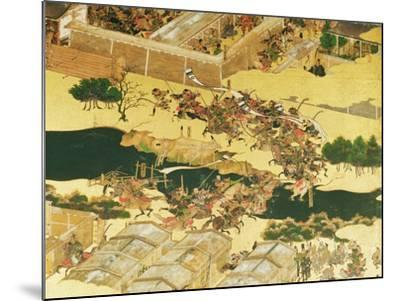 The Battle of Hogen from a Screen, Momayama Period-Japanese School-Mounted Giclee Print