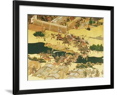 The Battle of Hogen from a Screen, Momayama Period-Japanese School-Framed Giclee Print