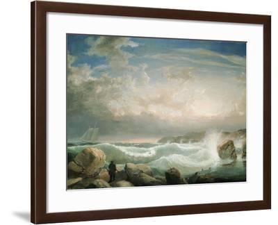 Rafe's Chasm, Gloucester, Massachusetts-Fitz Hugh Lane-Framed Giclee Print