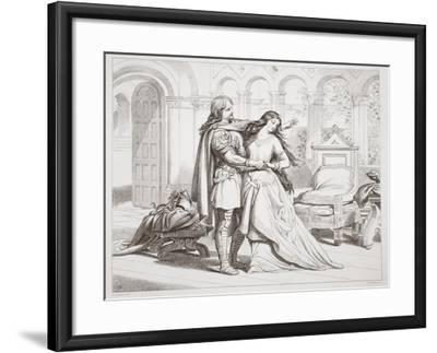 Hereward's First Interview with Torfrida-Henry Courtney Selous-Framed Giclee Print