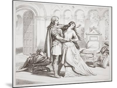 Hereward's First Interview with Torfrida-Henry Courtney Selous-Mounted Giclee Print
