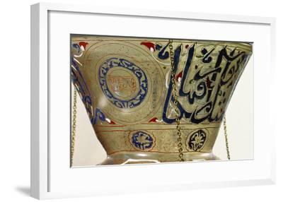 Lamp, from the Mosque of Sultan Hasan, Cairo-Islamic School-Framed Giclee Print