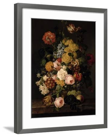Still Life - Roses, Tulips and Other Flowers- Petter-Framed Giclee Print